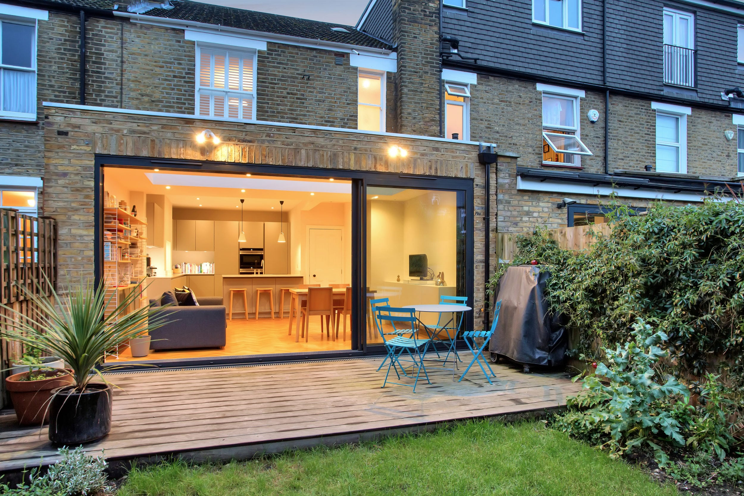 Contemporary Rear Flat Roof Extension The Art Of Building